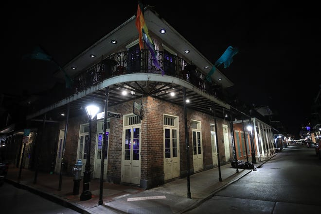 Bourbon Street is empty on March 16 as Louisiana Governor John Bel Edwards orders bars, gyms and casinos to close until April 13th due to the spread of the coronavirus.