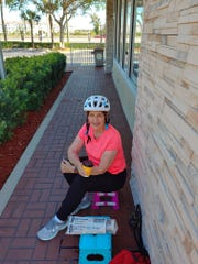 Karen Fieldhouse at her safe McDonald's dining spot