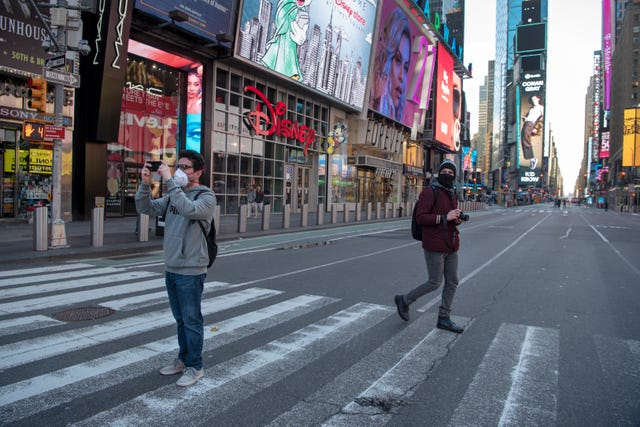 NY Coronavirus: Pandemic keeps crowds out of Times Square