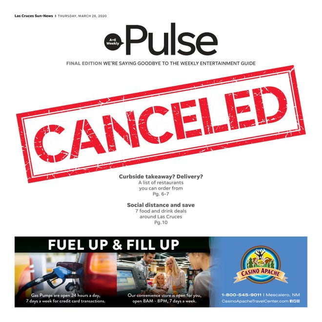 "Last issue of ""Pulse,"" March 26, 2020."