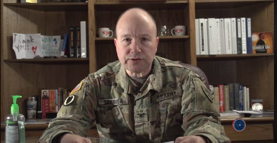 White Sands Missile Range Commander Col. David Trybula delivers daily update for the installation via Facebook on Wednesday, March 25, 2020.