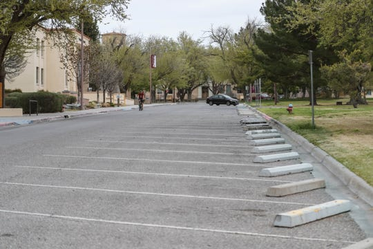 New Mexico State's Las Cruces campus sits mostly empty on Thursday, March 26, 2020, as the university prepares to move all instruction online by March 30.