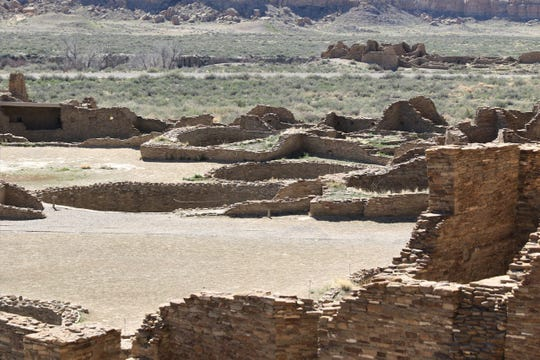 Pueblo Bonito is pictured April 14, 2019, at Chaco Culture National Historical Park.