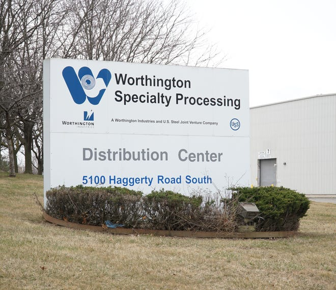 The Worthington Specialty Processing warehouse at 5100 Haggerty in Canton.