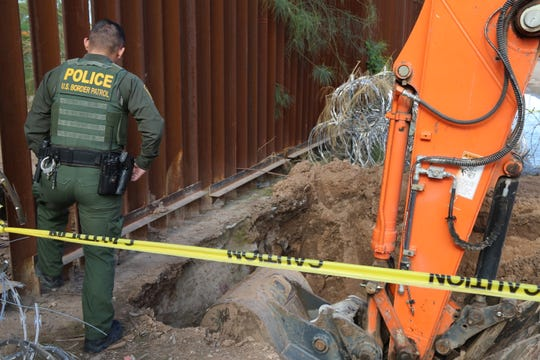Border officials discovered a tunnel near the U.S.-Mexico border in Yuma.