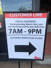 Seniors get to shop an hour earlier at 6 a.m. at the Fry's Food Store at Tatum and Shea boulevards in Phoenix.