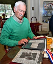 Former York Catholic boys' basketball coach Mike Keesey at his home in West Manchester Township, Thursday, March 26, 2020. Dawn J. Sagert photo