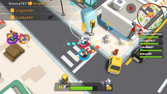 "It's a crazy food fight in ""Butter Royale"" on Apple Arcade. (Mighty Bear Games)"