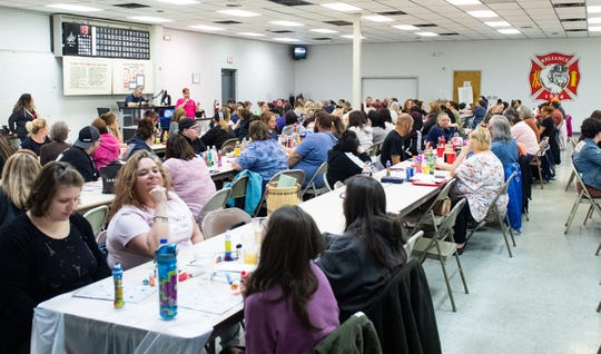 The West York Fire Company is completely filled during the Naughty Bingo fundraising event.