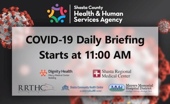 Shasta County Health and Human Services broadcasts weekday news briefings on its Facebook page.