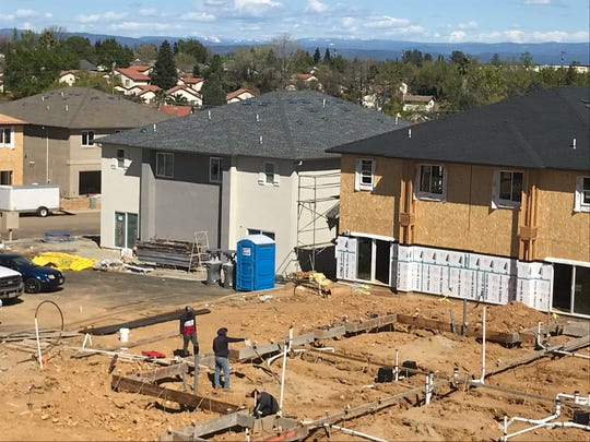 Building continues at Park Pointe off Hilltop Drive in Redding.