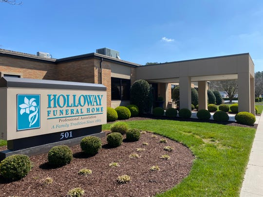 Holloway Funeral Home in Salisbury recommends families keep services to immediate family members only, but can invite whomever they wish to tune in via a live video feed on the funeral home's Facebook page.