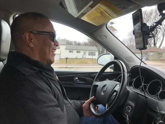 Benjamin Clarin driving for Lyft on March 26, 2020