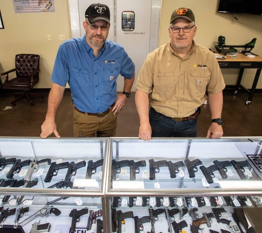 Co-owners of Talon Tactical Outfitters, Charlie Strickland and JD Johnson, have seen a massive increase in gun sales since the coronavirus outbreak.
