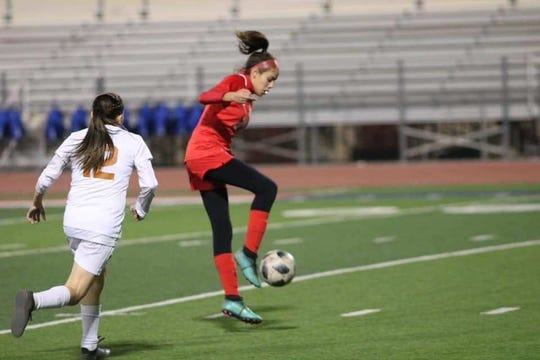 Abigail Payne has been a senior leader this year for the Bel Air girls soccer team.