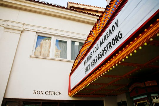 "The Plaza Theatre in Downtown El Paso is closed Wednesday after city officials issued a ""Stay Home, Work Safe"" order Tuesday to help halt the spread of coronavirus."