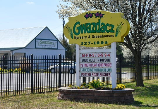 Gwazdacz Nursery & Greenhouses on West Main Street in Millville, pictured here on Thursday, March 26, 2020.