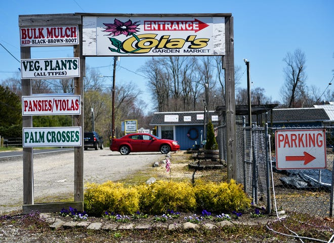 Coia's Garden Market Center on Oak Road in Vineland, pictured here on Thursday, March 26, 2020.