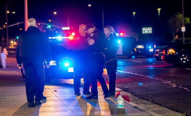 Visalia Police investigated two hit-and-runs on Wednesday, March 25, 2020. Both involved pedestrians in the roadway. The woman struck on North Dinuba Blvd was thrown about 100 feet and was transported to a local hospital with serious injuries.