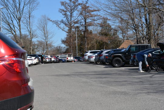 Traffic was light in Yorktown on March 26, 2020 everywhere but the parking lot at Mohansic Golf Course, which by lunchtime was largely filled back to the driving range.