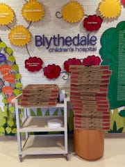 "Blythedale Children's Hospital in Valhalla received pies from Dom & Vinnie's Pizzeria in White Plains on Tuesday, March 24,2020. The receipt read: ""Thank you for helping the community! Bill & Hillary Clinton."""