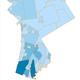 Map of coronavirus case density in Westchester