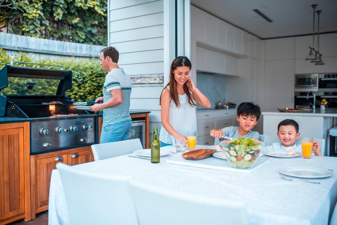 Get the most out of spring and summer with an outdoor kitchen — they're perfect for family dinners and get-togethers with friends.