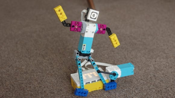Who wouldn't want to build a Lego break dancer? The challenge: code the robot's movements so that they are in time to the beat!