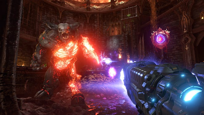 The first-person shooter video game 'Doom Eternal,' out now for PlayStation 4, Xbox One, PC, and Google Stadia, is the latest release in the storied 'Doom' franchise.