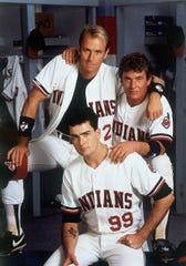 "Corbin Bernsen (from top), Tom Berenger and Charlie Sheen are Indians on a winning streak in ""Major League."""