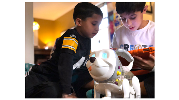 The FurReal Maker Proto Max is a dog-themed robot that will teach kids coding basics.