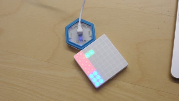 Design your own pixel games with the Juku Light Games Coding Kit.