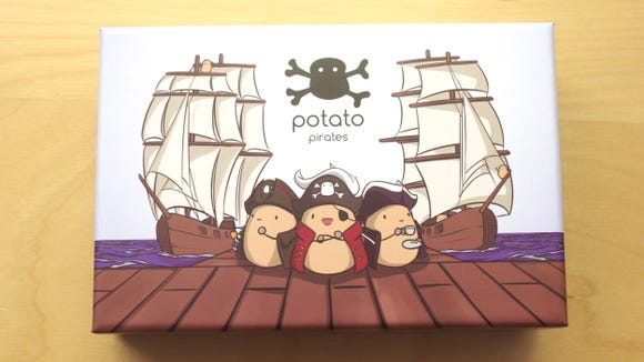 Potato Pirates is a fun card game that uses coding concepts to help kids attack one another's potato pirate crews.