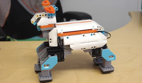 The Jimu Muttbot robot is nearly as playful as a real dog.