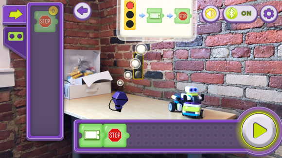 Built robots and explore coding concepts in AR with Botzees.