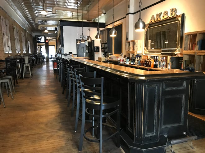 The seats are empty, but take-out is hopping at the new Author's Kitchen + Bar in Appleton.