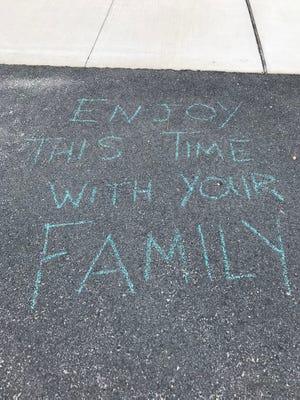 3/21/20 Positive message left by a park visitor at John C Bartlett Jr County Park at Berkeley Island