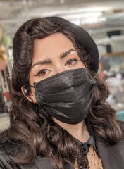 "Wearing a mask during the coronavirus pandemic ""signals to people (that) this is serious,"" said Alexandra Abene of Guttenberg."