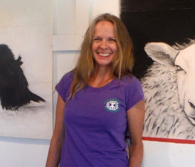 Marie Weichman mixes being an art professor at Olympic College and doing her own art in a home studio.