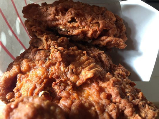 Fried chicken ordered from Al's French Frys in South Burlington on March 27, 2020.