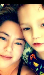 Athena Scheidet and her son Owen, 6, pose for a photograph. She said this was taken after a difficult day and the photograph reminds her how fortunate she is to have Owen. Jan. 2020.