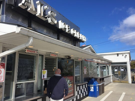 The takeout window at Al's French Frys in South Burlington on March 27, 2020.