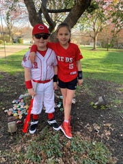 Jasper (left) and Ruby are the children of Danny and Sarah Celenza. Danny Celenza, a coach at Anderson High School suddenly passed at age 37 on March 5.