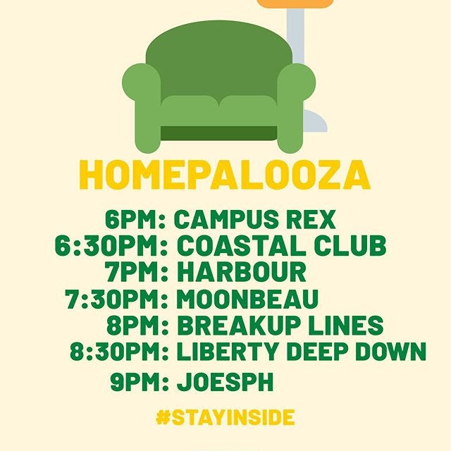Bogart's Homepalooza brings live, local bands to the comfort of your sofa.
