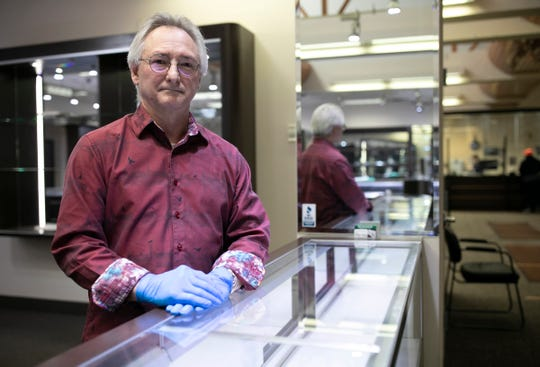 Dennis Dewyer is the general manager of Zeidmans Jewelry and Loan in Southfield and Detroit. Zeidmans is open and considered an essential business during the Coronavirus outbreak Thursday, March, 26, 2020.