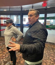 Don Haley, 56, owner of Italia Gardens, delivers free lunches to healthcare workers at Ascension Genesys in Grand Blanc. Haley expects to take out more small business loans to stay afloat during the coronavirus pandemic.