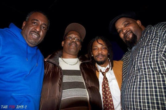 Left to right: Kelvin Calhoun, Willie Fair, Grov GT Tigue IV and Kevin Epps in 2012.