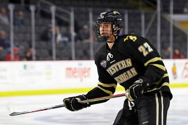 Western Michigan forward Austin Rueschhoff signed with the New York Rangers.