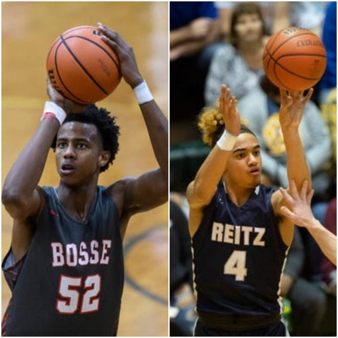Bosse senior Kiyron Powell (left) and Reitz junior Khristian Lander (right) are the Courier & Press co-Metro Players of the Year