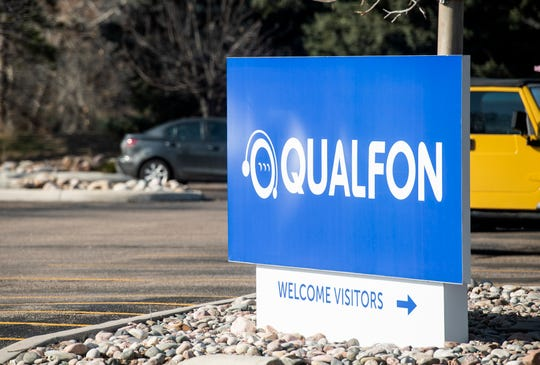 Qualfon is open for business in Fort Collins, Colo. on Thursday, March 26, 2020.